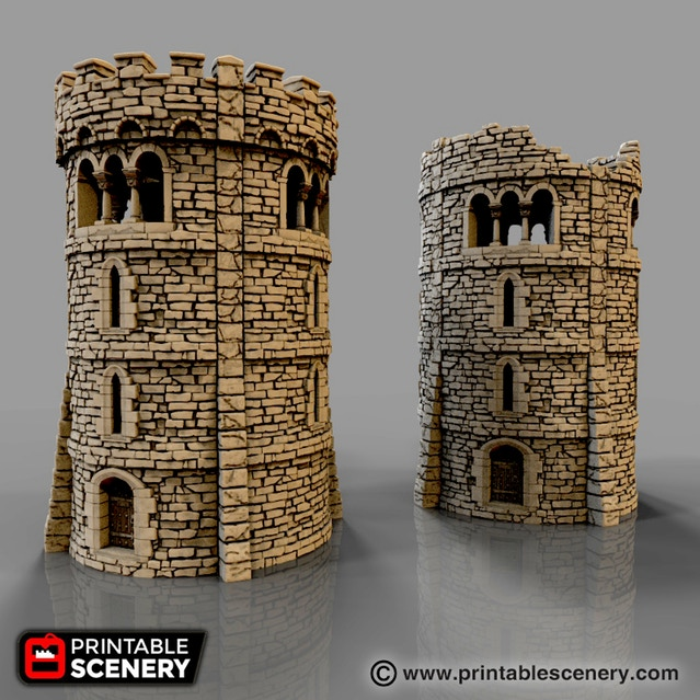 Rampage Gothic - 3d Printable Scenery Building System | Miniset net