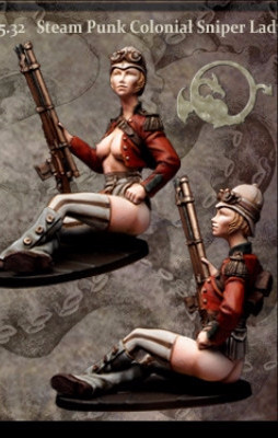 Steampunk Colonial Sniper Lady I
