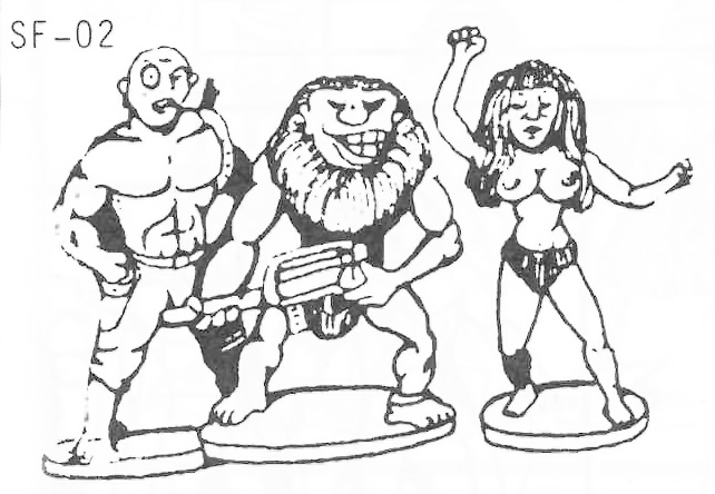 SF-02b Mutant Encounters 1 - Humanoids with Various Deformities, weapons and poses