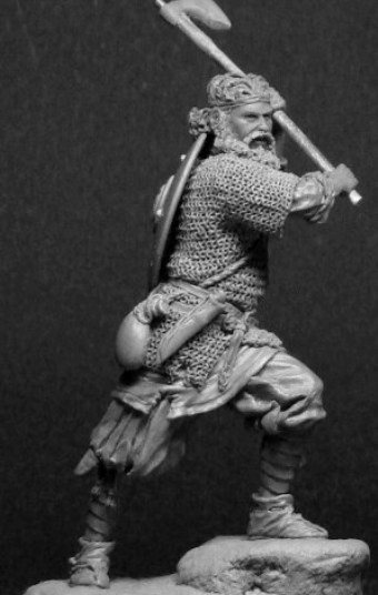 Russian warrior with an axe, 13-14 cent.