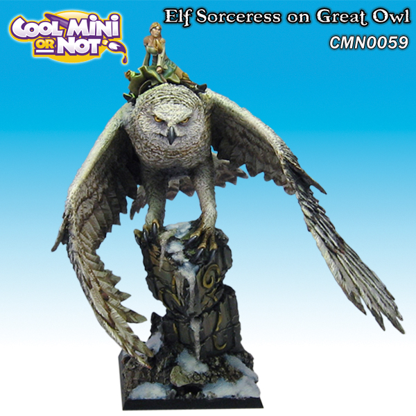 Elf Sorceress on Giant Owl
