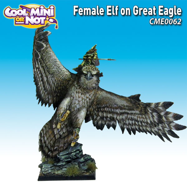 Female Elf on Great Eagle