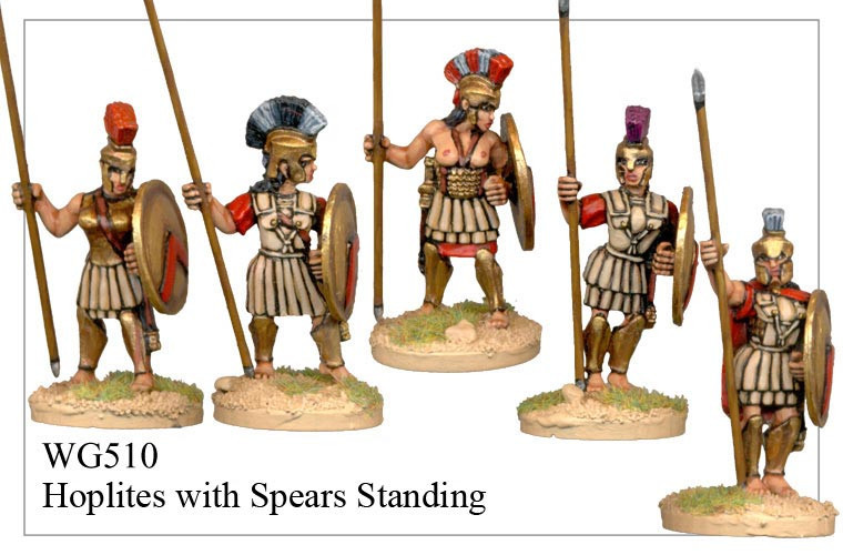 Hoplites with Spears Standing