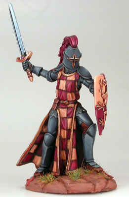 Male Knight with Sword and Shield