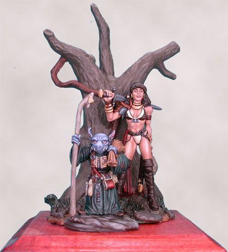 Elmore 54mm Diorama Set - Journey to the Gathering - (In Large Clamshell)