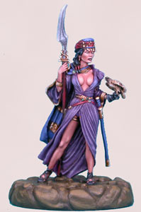 Desert Wings - Female Warrior with Hawk