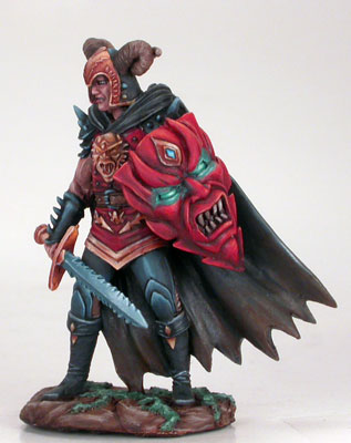 Male Anti-Paldin with Bastard Sword and Demonic Shield - Easley