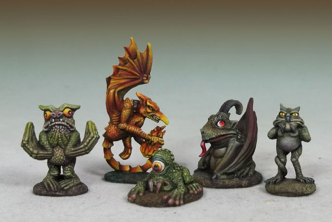Devil Toad, Quasit, Wormwood, Fire Imp & Eye of the Swamp
