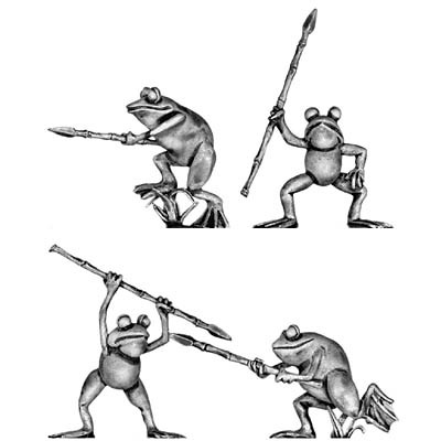 Frog, with spear