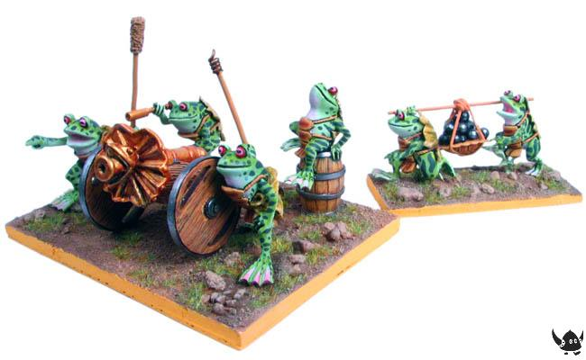 Frog cannon and crew