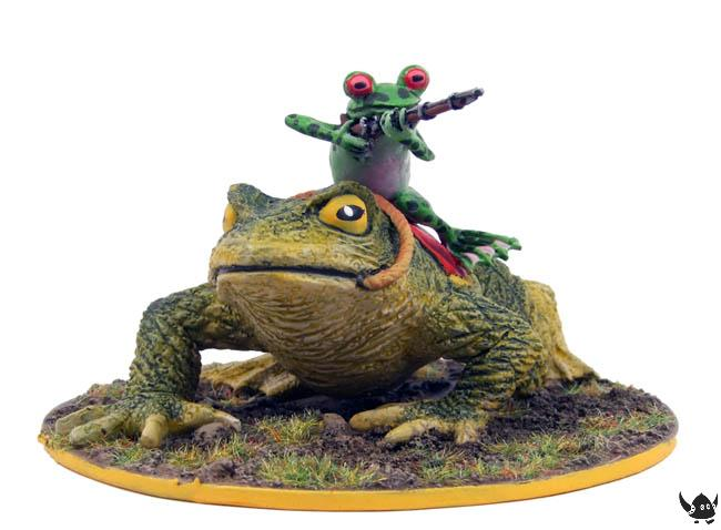 Frog Cavalry on toad mount with musket