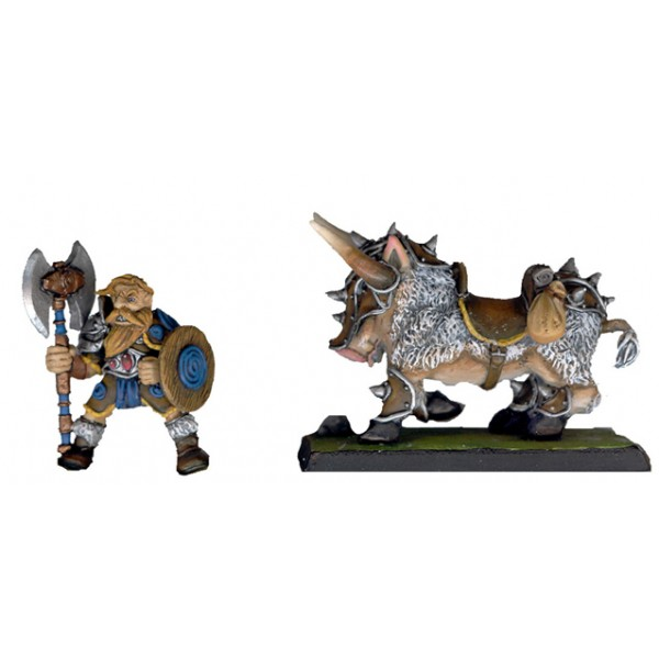 Boar rider Dwarf Mercenary
