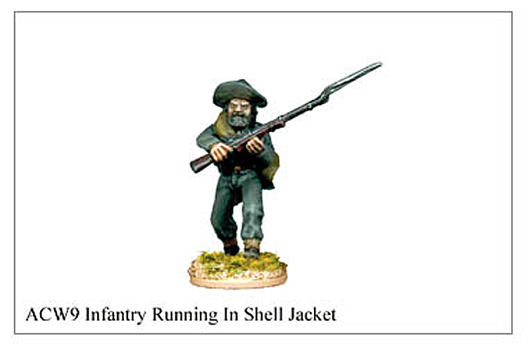 40mm American Civil War  - Infantry Running In Shell Jacket