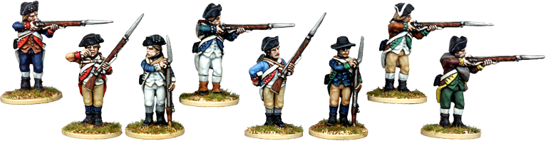 Continental Infantry Firing Line
