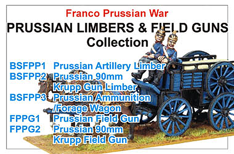 Franco Prussian War Prussian Limbers And Field Guns Collection