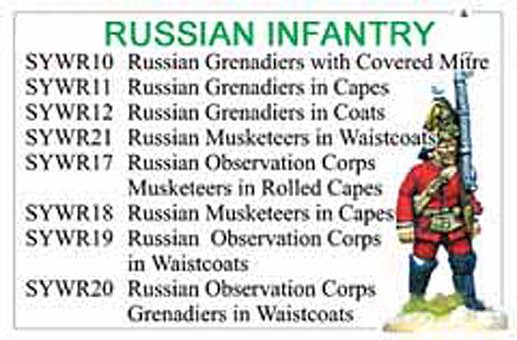 Seven Years War Russian Infantry Collection