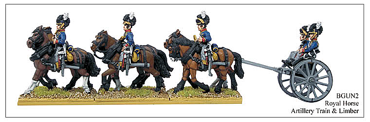 Napoleonic British - Royal Horse Artillery Limber And Train