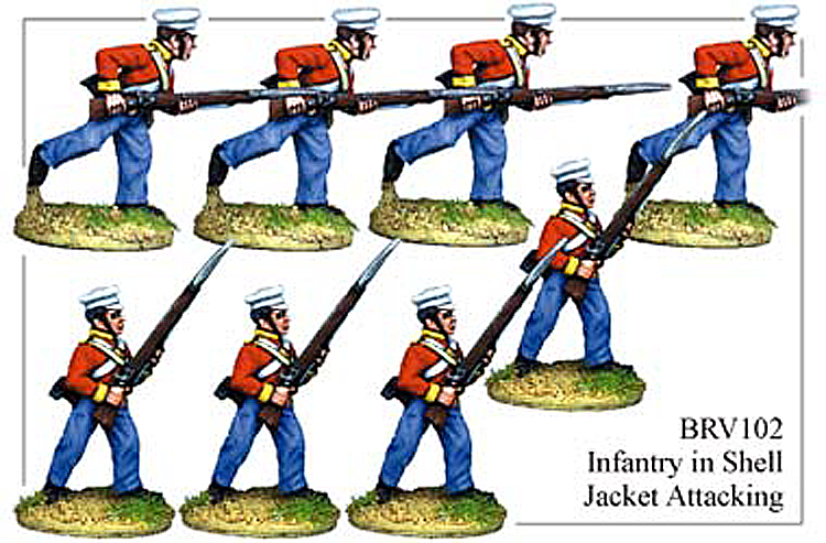 Colonial Sikh Wars - British Infantry In Shell Jacket Attacking