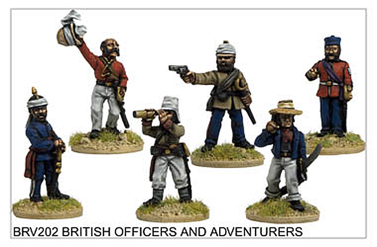 Colonial Indian Mutiny - British Officers And Adventurers