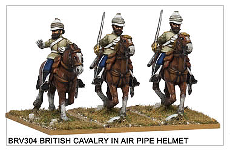Colonial China 1839-1900 - British Cavalry In Air Pipe Helmet