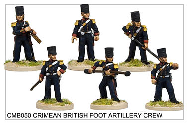 Crimean War British - Crimean British Foot Artillery Crew