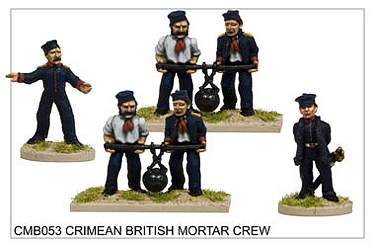 Crimean War British - Crimean British Mortar Crew