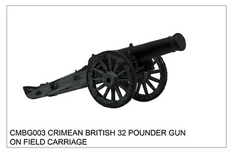 Crimean War British - Crimean British 32 Pounder Gun On Field Carriage