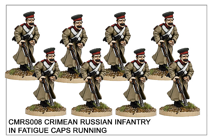 Crimean War Russian - Crimean Russian Infantry In Fatigue Caps Running