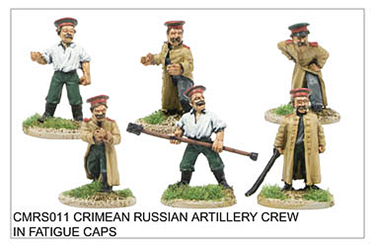 Crimean War Russian - Crimean Russian Artillery Crew In Fatigue Caps