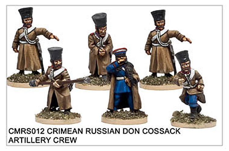 Crimean War Russian - Crimean Russian Don Cossack Artillery Crew
