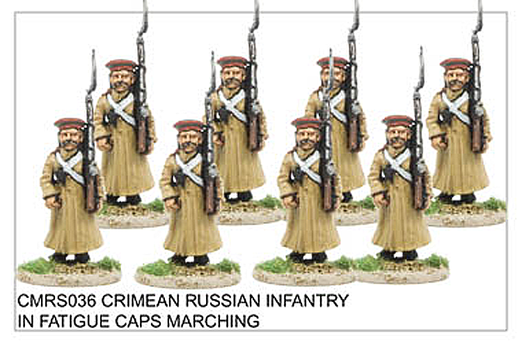 Crimean War Russian - Crimean Russian Infantry In Fatigue Caps Marching