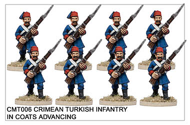 Crimean War Turkish - Crimean Turkish Infantry In Coats Advancing