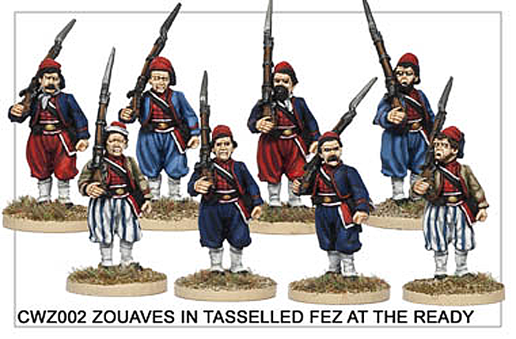 American Civil War  - Zouaves In Tasselled Fez At The Ready
