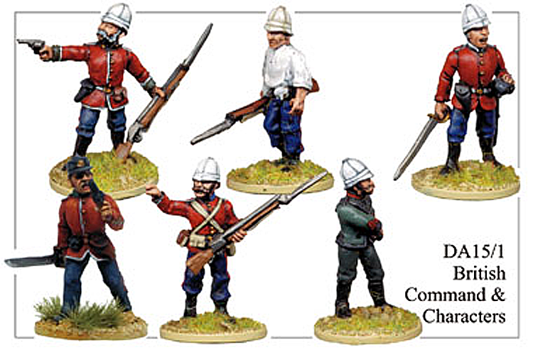 Colonial Zulu Wars - British Command And Characters