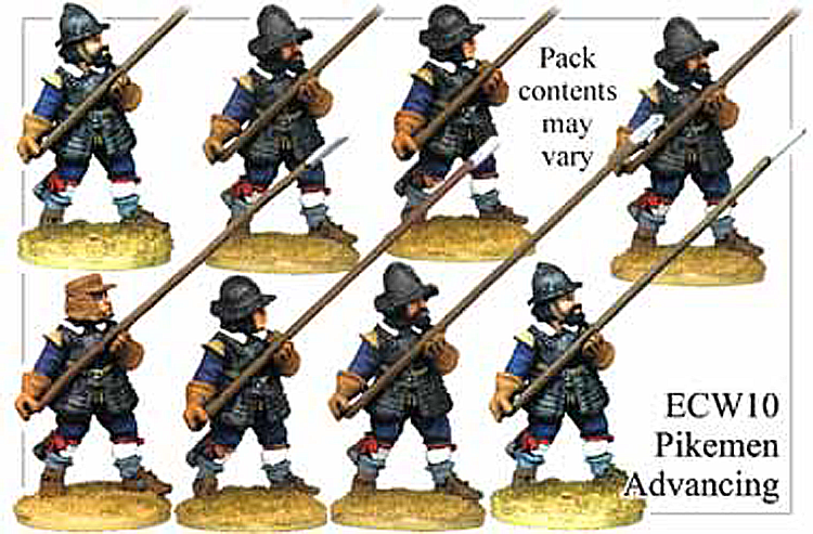 English Civil War British - Pikemen Advancing