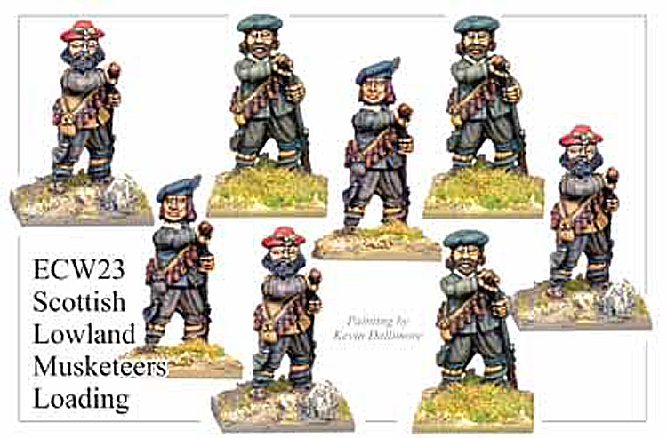 English Civil War Scottish - Lowland Musketeers Loading