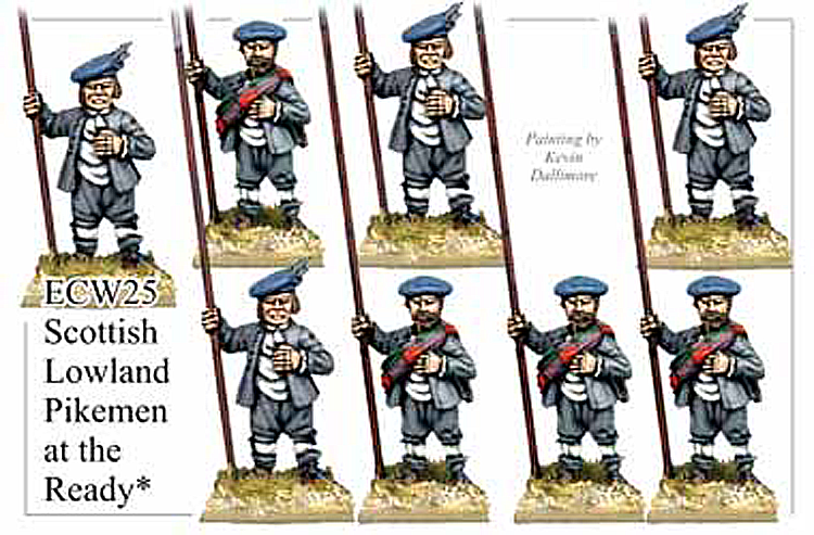English Civil War Scottish - Lowland Pikemen At The Ready