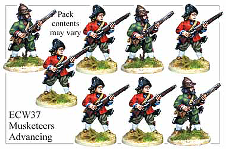 English Civil War British - Musketeers Advancing