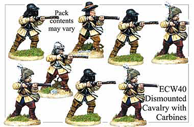 English Civil War British - Dismounted Cavalry With Carbines