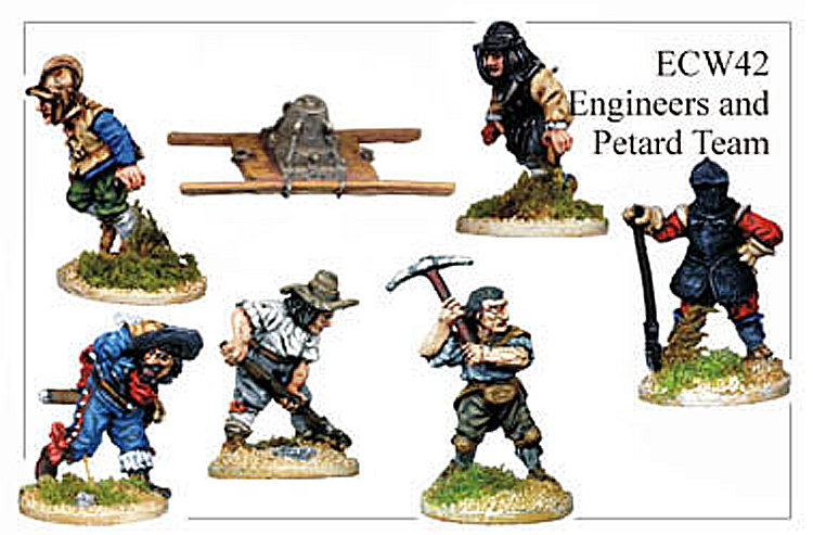 English Civil War British - Engineers And Petard Crew