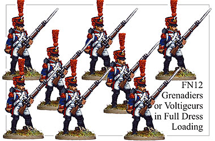 Napoleonic French - Grenadiers Or Voltigeurs In Full Dress Loading