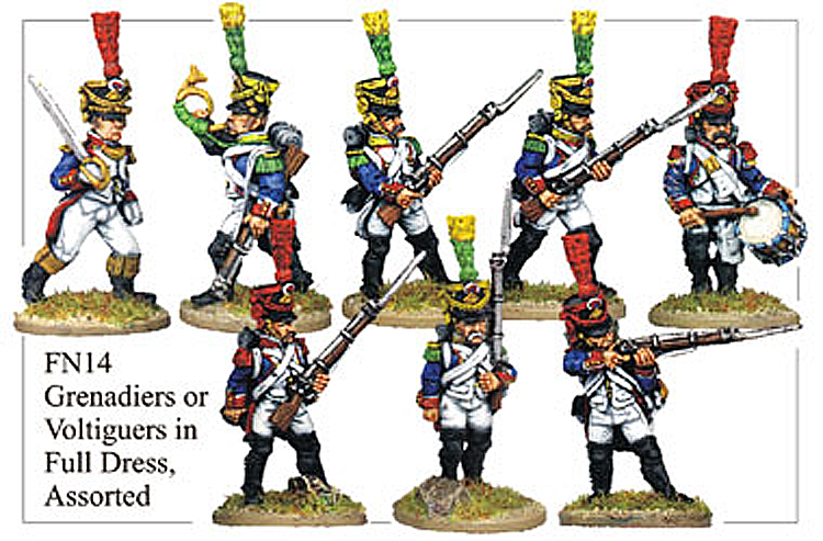 Napoleonic French - Grenadiers Or Voltigeurs In Full Dress