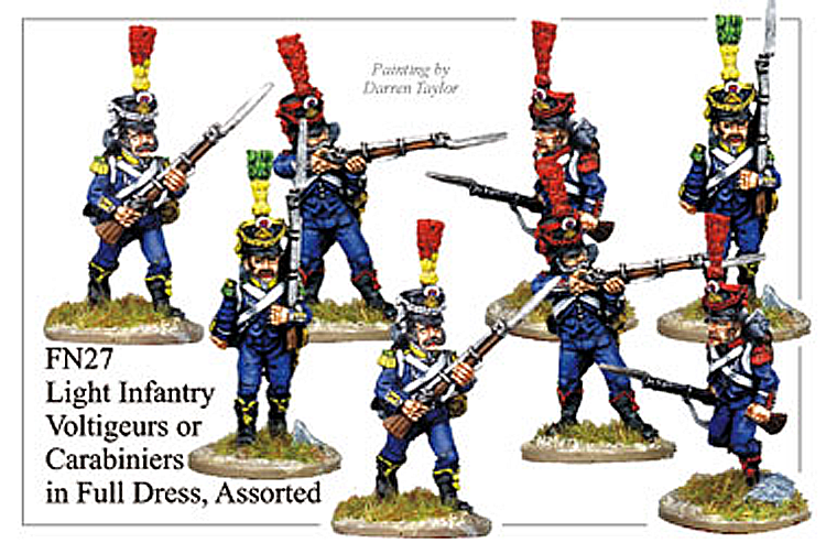 Napoleonic French - Light Infantry Voltigeurs Or Carabiniers In Full Dress