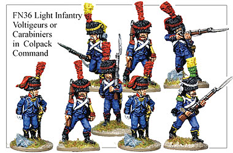 Napoleonic French - Light Infantry Voltigeurs Or Carabiniers In Full Dress And Colpack
