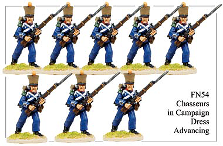 Napoleonic French - Light Infantry Chasseurs Advancing
