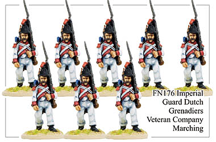 Napoleonic French - Imperial Guard Dutch Grenadiers Veteran Company Marching