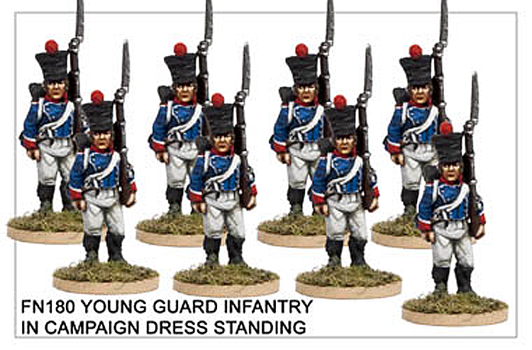 Napoleonic French - Young Guard Infantry In Campaign Dress Standing