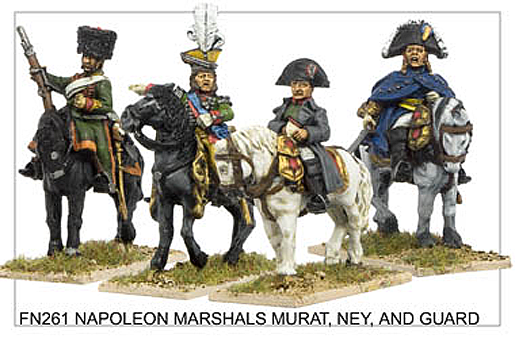 Napoleonic French - Napoleon Bonaparte Marshals Murat And Ney And Guard
