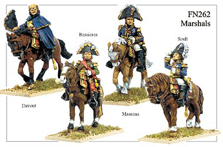 Napoleonic French - Marshals Davout Soult Bessieres Messena