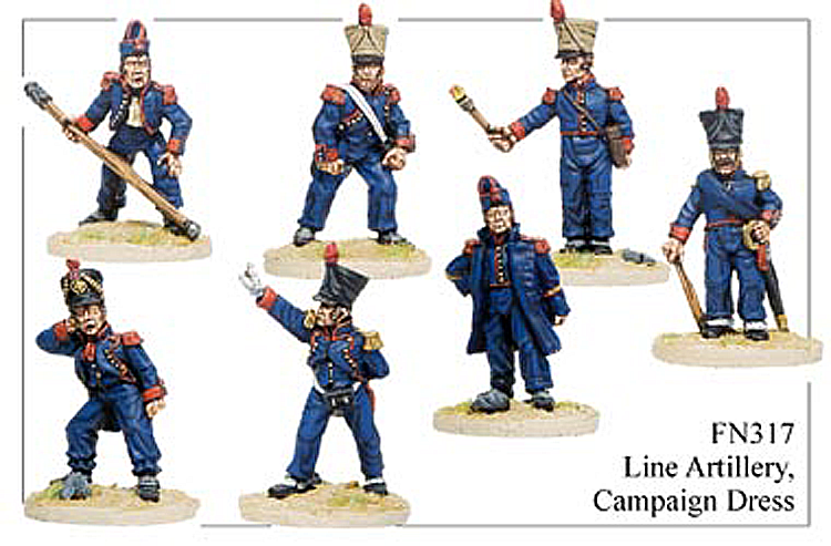 Napoleonic French - Line Artillery In Campaign Dress